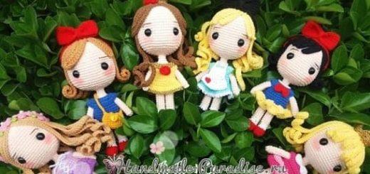 Вяжем куколку - принцессу амигуруми (1)