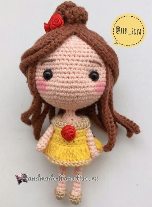 Вяжем куколку - принцессу амигуруми (4)