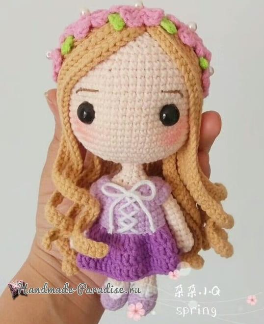 Вяжем куколку - принцессу амигуруми (6)