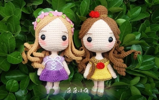 Вяжем куколку - принцессу амигуруми (9)