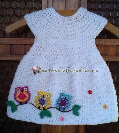 Детское платье и плед с совушками (2)