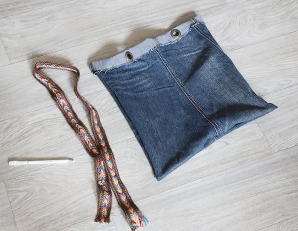 Как сшить сумку из старых джинсов (13)