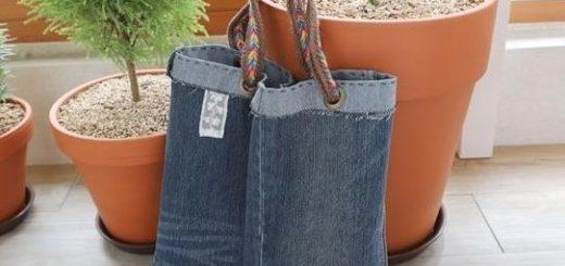 Как сшить сумку из старых джинсов (2)