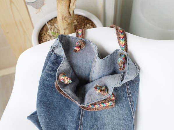 Как сшить сумку из старых джинсов (3)