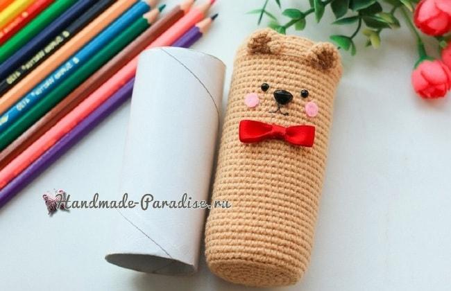 Карандашница «Медвежонок» своими руками (1)