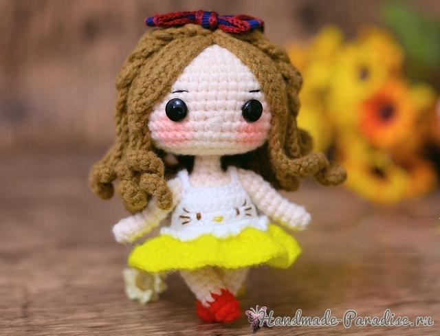 Куколка амигуруми. Описание вязания (5)