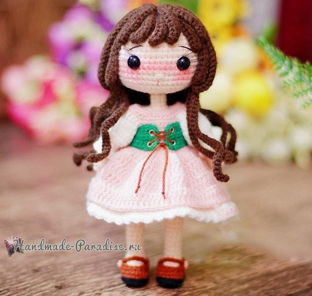 Куколка амигуруми. Описание вязания (6)