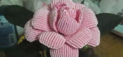 Плетение розы в технике макраме
