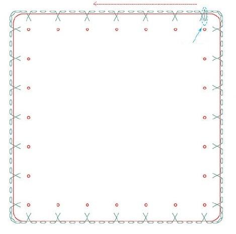Прозрачная сумка из полиэтилена с обвязкой крючком (4)