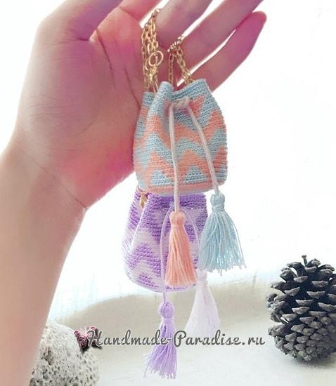 Сумочка Мочила крючком для куклы (3)
