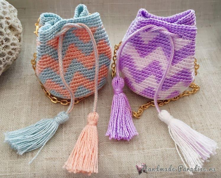 Сумочка Мочила крючком для куклы (4)
