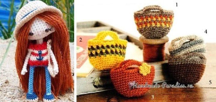 Сумочки крючком для куколки амигуруми (2)