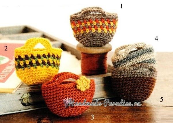 Сумочки крючком для куколки амигуруми (6)