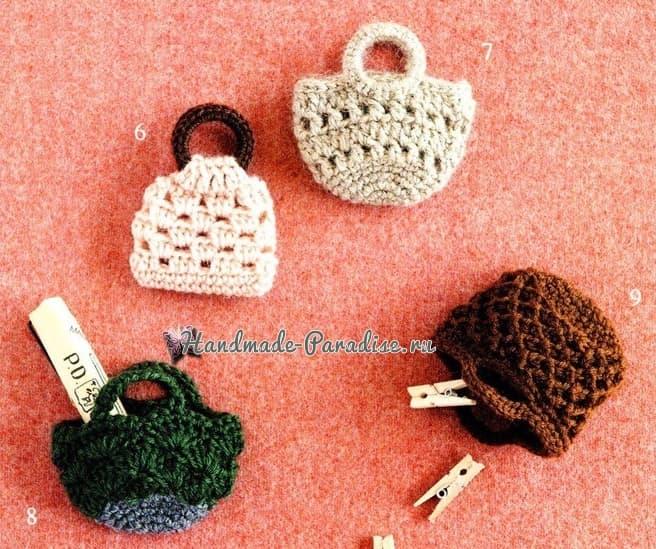 Сумочки крючком для куколки амигуруми (7)