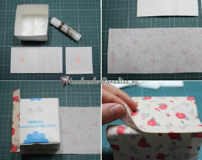 Винтажные коробочки из коробок от молока (1)