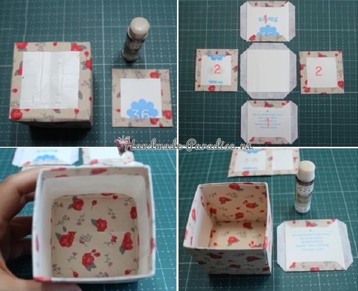 Винтажные коробочки из коробок от молока (3)