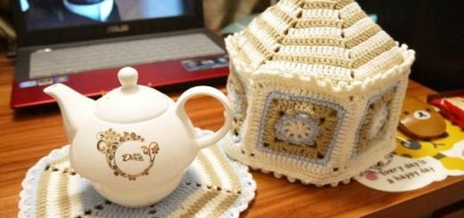 Грелка на чайник крючком. Схемы вязания (1)