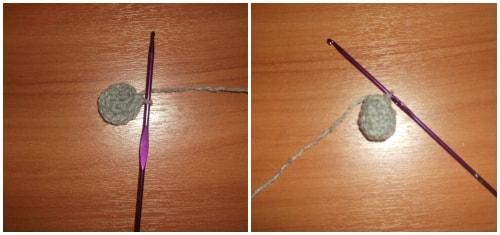 Как связать мишку из плюшевой пряжи крючком (3)