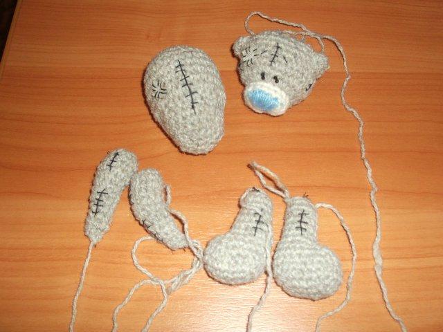 Как связать мишку из плюшевой пряжи крючком (4)