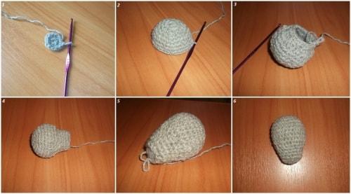 Как связать мишку из плюшевой пряжи крючком (5)