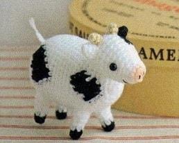 Корова, овечка и козлик амигуруми. Схемы (4)