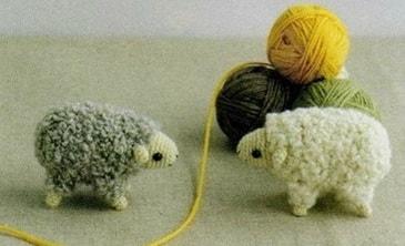 Корова, овечка и козлик амигуруми. Схемы (6)