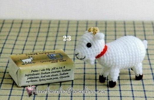 Корова, овечка и козлик амигуруми. Схемы (7)