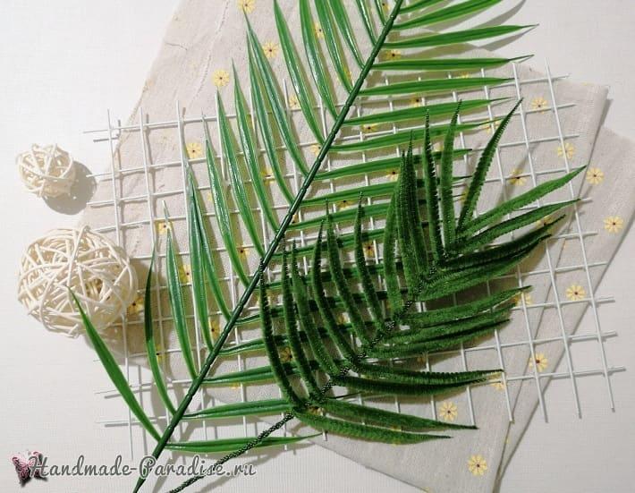 Лист папоротника из синельной проволоки (1)