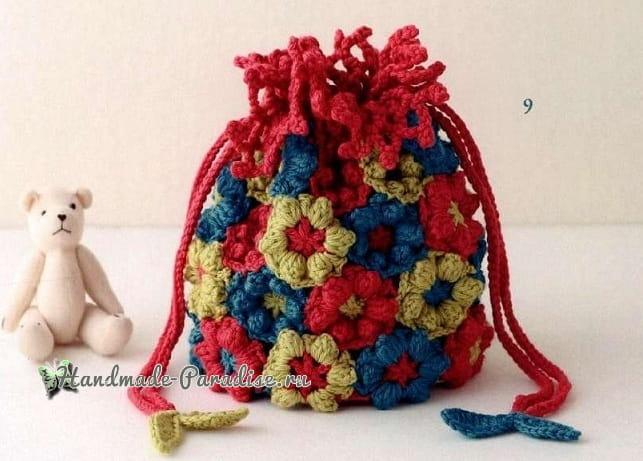 Мешочки крючком. Схемы вязания (6)
