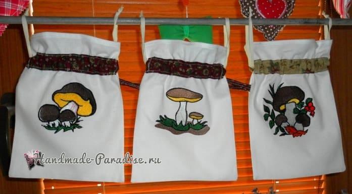 Вышиваем мешочек для хранения грибов (2)