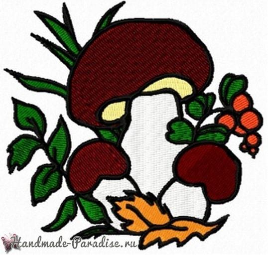 Вышиваем мешочек для хранения грибов (3)