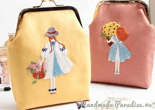 Красивая вышивка для сумочки девочки (1)