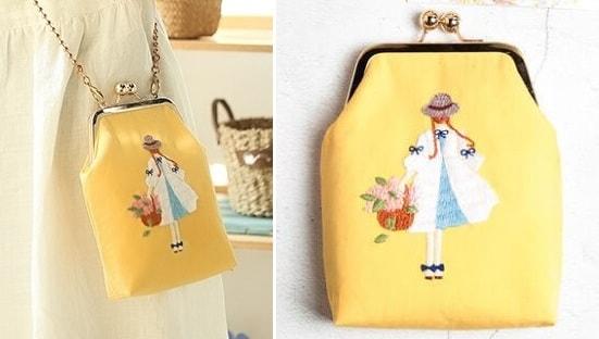 Красивая вышивка для сумочки девочки (2)