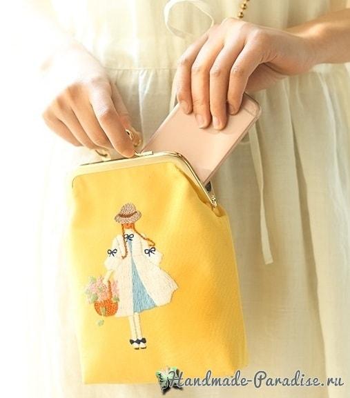 Красивая вышивка для сумочки девочки (3)
