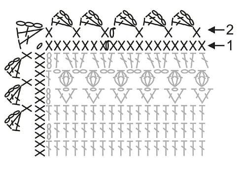 Плед с тюльпанами крючком. Схема (1)