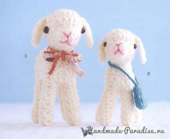 Схемы вязания овечек амигуруми