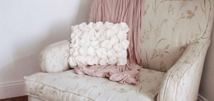 Чехол для подушки и декорирование абажура