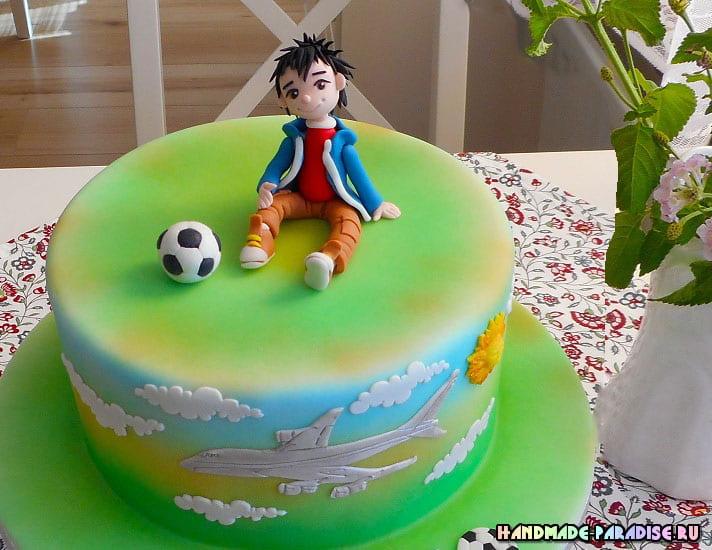 Футболист из сахарной мастики (1)