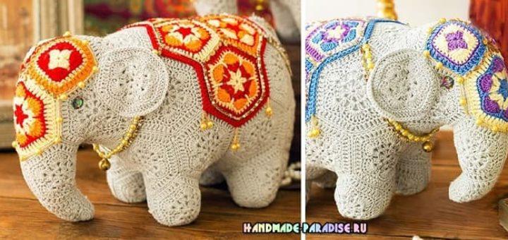 Индийский слон мотивами африканский цветок (1)
