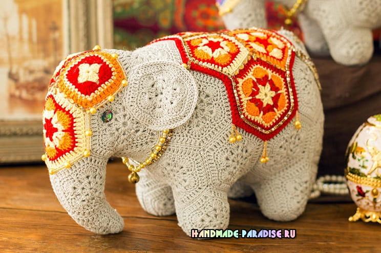 Индийский слон мотивами африканский цветок (2)