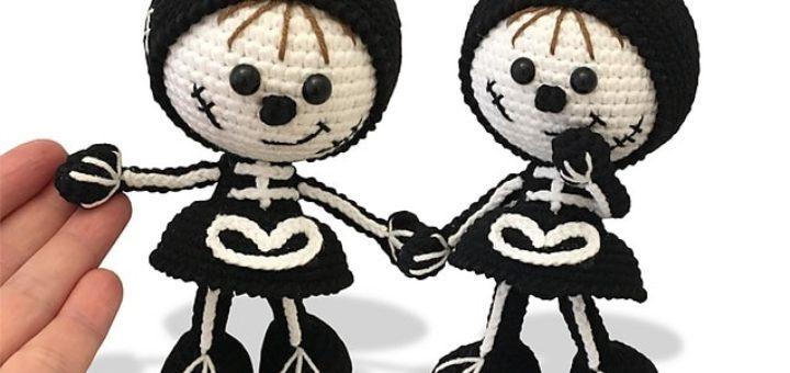 Куколки-скелеты. Амигуруми к Хэллоуину (2)