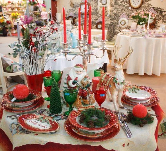 Новогодняя посуда в «Вилла Грация» (2)