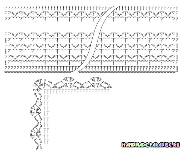 Плед крупной вязки крючком простым узором (1)