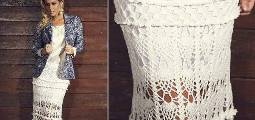 Роскошная длинная юбка крючком