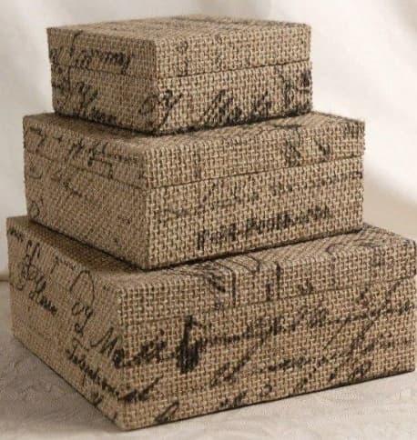 Декор коробок тканью и газетами (1)