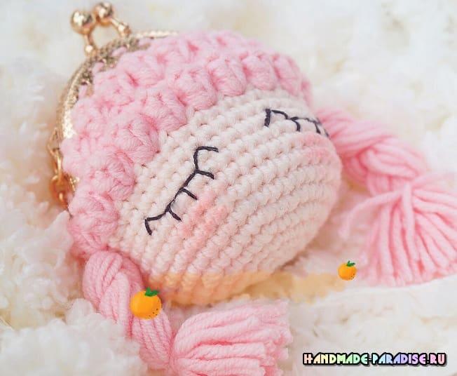 Куколка-сплюшка - кошелек крючком (1)