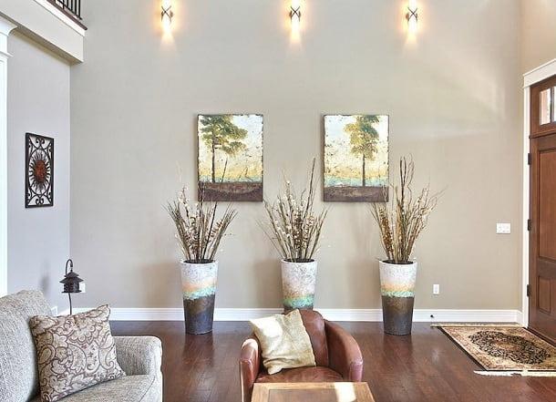 Напольные вазы — украшение интерьера городской квартиры и загородного дома (1)