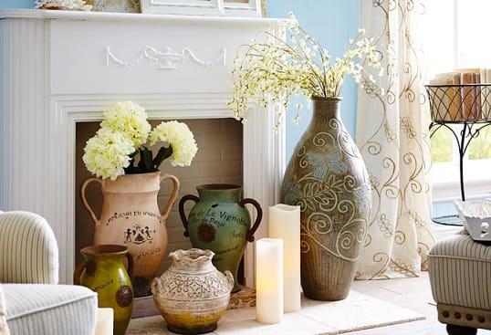 Напольные вазы — украшение интерьера городской квартиры и загородного дома (3)