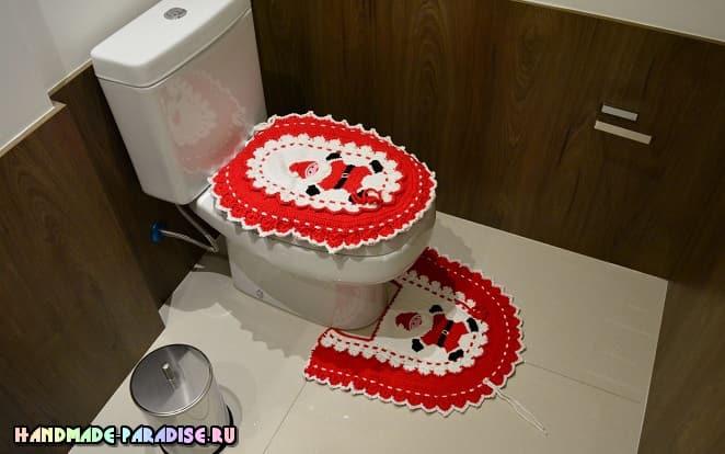 Новогодний комплект для ванной комнаты (2)