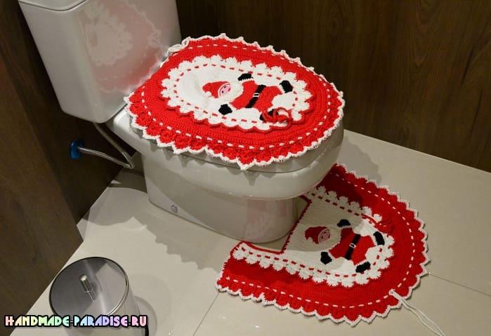 Новогодний комплект для ванной комнаты (3)